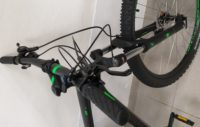CUBE AIM RACE BLACK-GREEN 2020 FRONTALE