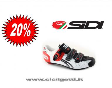 SIDI Genius 5 fit carbon bianco-nero-rosso